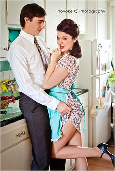Image captured by Provoke Photography Themed pinup couples portrait