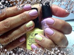 CND Shellac Cake Pop with Sun Bleached and Konad Stamping ring finger accents. By Claire's Creative Nails, Northampton.