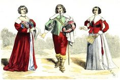 French Lord and Ladies costumes after the Sumptuary law 17th century