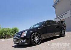 2010 Cadillac CTS with Giovanna Kilis in Machined Black wheels Pimped Out Cars, 22 Rims, Wheel And Tire Packages, Cadillac Ct6, Everything And Nothing, Black Wheels, Interior Trim, Wheels And Tires, Airplanes
