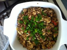 Minced Pork Belly fried with Taukwa  豆干炒卤肉碎