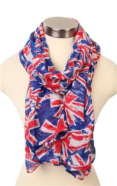 Deb Shops #scarf with #british #flag print