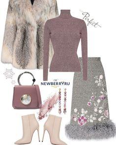 Модные сеты женской одежды зима 2018-2019  #гардероб #мода #стиль #тенденции #образ #элегантно #стильно #зима2018 #модныелуки #зима #лук… Cute Work Outfits, Classy Outfits, Stylish Outfits, Beautiful Outfits, Skirt Fashion, Fashion Outfits, Womens Fashion, Winter Skirt Outfit, Outfit Combinations