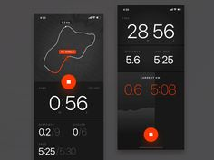 Running app concept, ios by Stano Bagin