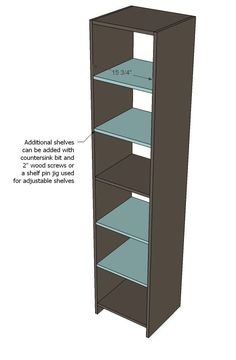 Ana White   Build a Closet Organizer from One Sheet of Plywood   Free and Easy DIY Project and Furniture Plans