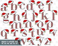Santa Hat Alphabet Elf Alphabet Believe Santa's Cutest Hand Lettering Alphabet, Doodle Lettering, Alphabet Design, Graffiti Lettering, Lettering Styles, Christmas Alphabet, Christmas Fonts, Christmas Doodles, Letras Abcd