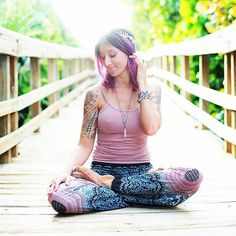 Look at this sweet and summery shot of our Copper and Blue Honey Hive by our favourite ambassador Renee :cherry_blossom::cherry_blossom::cherry_blossom: Morning Meditation, Yoga Session, Summer Solstice, Cherry Blossom, Harem Pants, Summer Outfits, That Look, Honey, Copper
