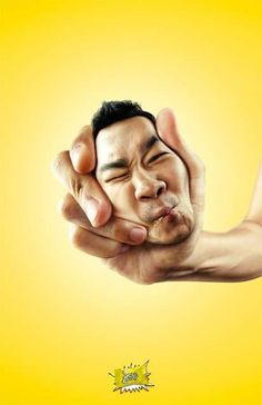 Squeezed Head Ads: The Sour Lemon Candy Campaign Revolves Around Super Puckered Faces (by Bangkok Showcase, Bangkok, Thailand)