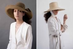 My daughter's friend Dani Griffiths designs and hand crafts these fantastic hats in New York. Her design label is CLYDE.