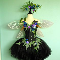 Fairy Costume - The Himalayan Poppy Faerie of the Moonlight Garden - adult fairy costume size EXTRA LARGE