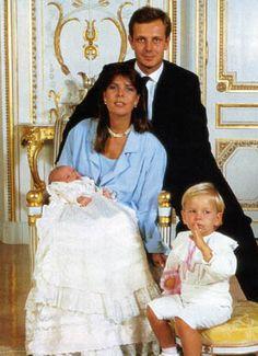 Princess Caroline of Monaco (*1957) and her second husband Stefano Casiraghi (1960-1990)