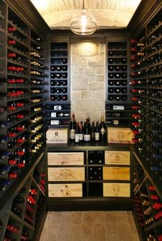 In-house wine room for all your favorites and collectibles #WineRoom