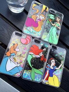 Liquid Glitter Phone Case Disney Inspired Tumblr by LDsCraftShop