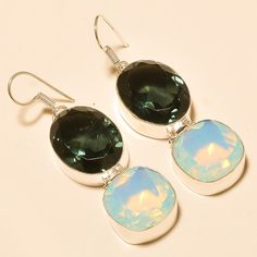 Gifts For Her – Milky Opal Earrings /Women Fashion Earrings /Shiny – a unique product by 925silvercollection on DaWanda
