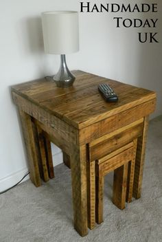 Handmade Rustic Nested Tables Coffee Table Nest Recycled Reclaimed Pallet Wood by HandmadeTodayUK on Etsy