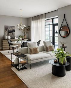 Ask any interior designer and they'll tell you the same thing: Your furniture layout can make or break the efficiency of a small living room. Home Living Room, Interior Design Living Room, Living Room Decor, Decorating Small Living Room, Small Space Interior Design, Interior Livingroom, Apartment Living, Living Room Walls, Apartment Therapy