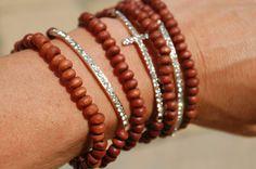 Side Cross Bracelet Stackables by StringofLove on Etsy, $28.00