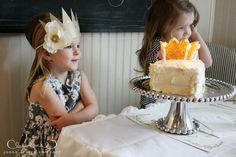 Adorable birthday princess crown - much cuter than a traditional birthday hat.