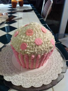 First Birthday Very Large Cupcake Cake