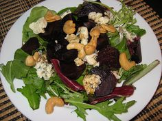 Roasted Beet Salad with Blue Cheese and Cashews by Kevin - Closet Cooking, via Flickr