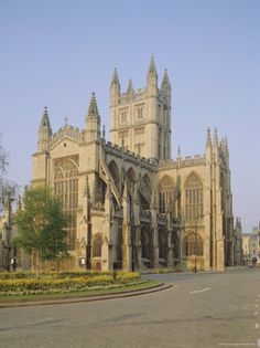 Bath Abbey, Bath, England. There has been a place of worship on this site since 757