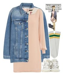 """""""Eleven"""" by hollowpoint-smile ❤ liked on Polyvore featuring MANGO, Dorothy Perkins, Converse, 80s, retro, netflix, Eleven and StrangerThings"""