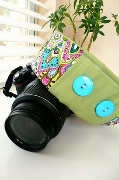 Beautiful DIY Camera Strap Cover