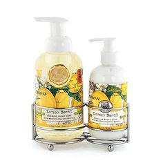Lemon Basil Handcare Soap/Lotion Caddy Set Scent: Fresh lemon and basil A silver-toned caddy holds a bottle of Foaming Hand Soap and rich Hand Lotion. Very elegant, very convenient. Size: Foaming Hand Soap: fl Hand Lotion: 8 fl ml Body Butter, Shea Butter, Honey Almonds, Lemon Basil, Soap Maker, Hand Care, Hand Lotion, Body Lotion, Bath And Body Works