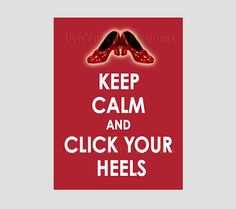 Keep Calm Pattern, Cross Stitch Pattern, Wizard of Oz Pattern, Keep Calm and Click Your Heels, Ruby Slippers from NewYorkNeedleworks on Etsy