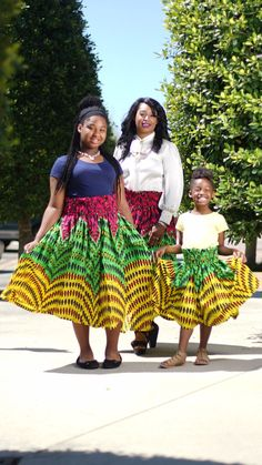 African Culture, Print Skirt, Mommy And Me, Ankara, One Size Fits All, Afro, Skirt Set, Bohemian, Street Style