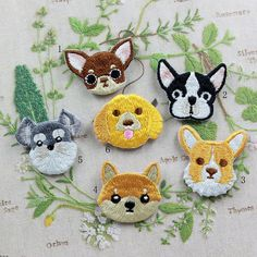 Cute Dog Patch Embroidered Animation Cartoon by FlagPatchKingdom