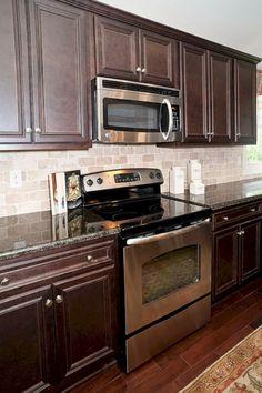 40 Magnificent Kitchen Designs With Dark Cabinets   Dark countertops ...