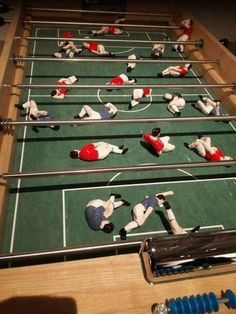 More Realistic Foosball: picture brought to you by evil milk funny pics. Image related to More Realistic Foosball Dankest Memes, Funny Memes, Hilarious, Jokes, Fun Funny, Video Humour, Baby Foot, I Laughed, Funny Pictures
