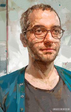 Portrait of Arash on Behance