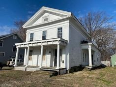 Greek Revival Architecture, Architecture Design, Greek Revival Home, Fixer Upper House, American Farmhouse, Old Houses For Sale, Interior And Exterior, Interior Doors, Farmhouse Decor