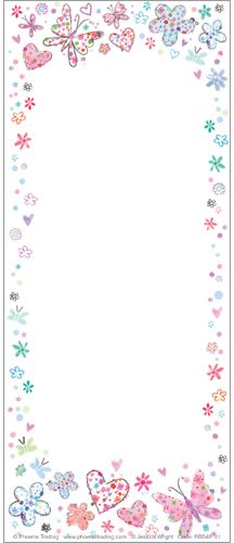 Shopping lists, things to do lists, quick reminders. Our beautifully designed Hearts, Flowers and Butterflies Jotter Pad could offer the perfect solution. 3d Box Frames, Butterfly Party, Organiser Box, Stationery Set, Beautiful Butterflies, Note Cards, Phoenix, Greeting Cards, Hearts