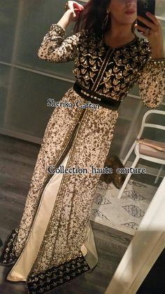 Caftan haute couture nude et noir Sherika Caftan