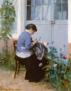 Sewing - Carl Larsson 1882 Swedish 1853-1919