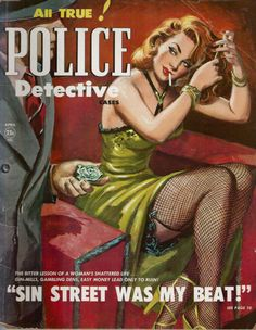 Police Detective April 1951.  Vintage Pulp Magazine Cover
