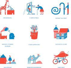 Vincent Godeau Service Public, Infographic, App, Strasbourg, Image, Illustrations, Design, Gardens, Artist