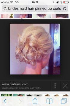 Bridesmaids curly bun