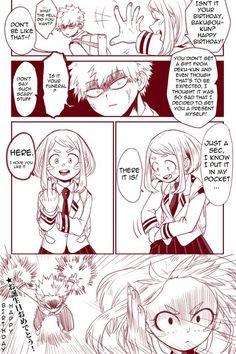 Boku no Hero Academia || Katsuki Bakugou, Ochako Uraraka.: