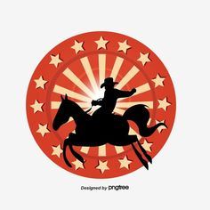 Texas Cowboy Riding Silhouette Five Pointed Star Silhouette Texas Cowboy Png Transparent Clipart Image And Psd File For Free Download Silhouette Png Texas Cowboys My Images
