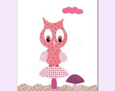 Lot de 4 illustrations pour chambre d 39 enfant et bebe rose - Illustration chambre bebe ...