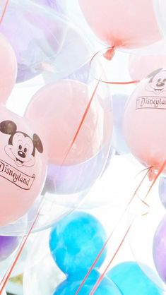 Mickey balloons at Disneyland are pastel perfection! Disney Pictures I Beautiful Disney I Pictures of Disney
