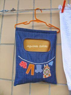 Agulhas Soltas - Artesanato em Geral: Peg bag - Saco para molas da roupa