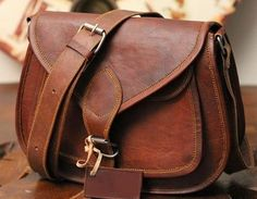 Distressed WOMEN Leather shoulder bag ipad by ArtistCollection32