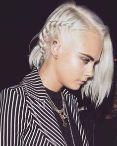 Cara Delevingne just went platinum blonde: Bleached up. -Vogue Australia