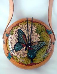 Butterfly gourd bag