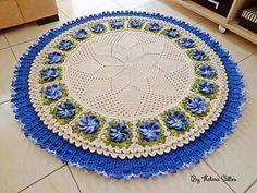Crochet Dishcloths, Crochet Granny, Crochet Rugs, Tapetes Diy, Diy And Crafts, Arts And Crafts, Crochet Elephant, Crochet Table Runner, Table Runners
